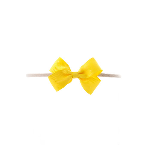 Small London Bow Soft Hairband - Daffodil