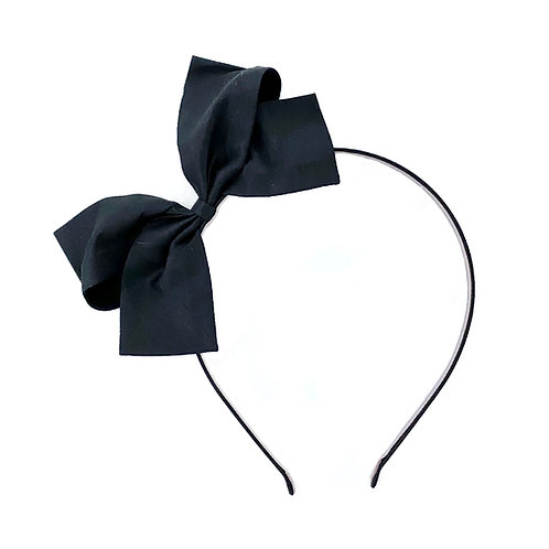 Paris Bow Hairband - Black Silk