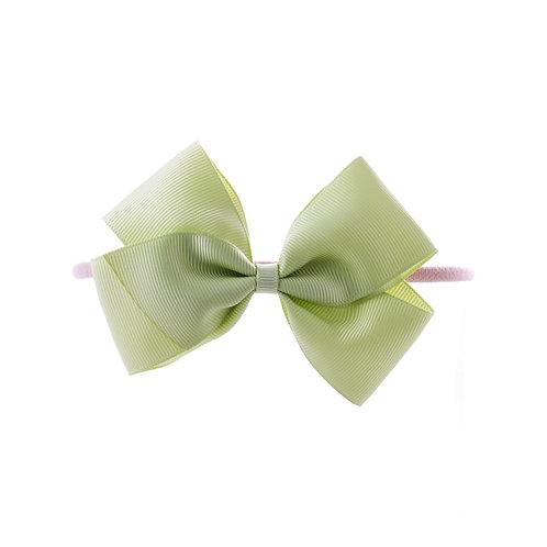Medium London Bow Soft Hairband - Lime Juice