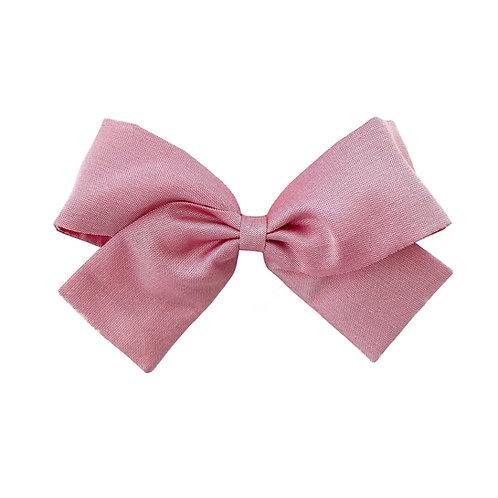Medium Paris Bow - Wild Rose  Silk Taffeta