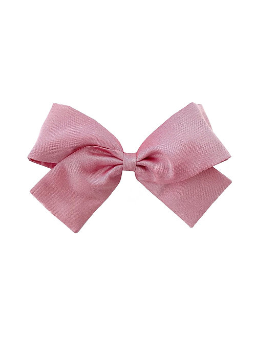 Medium Paris Bow - Wild Rose  Silk Taffeta