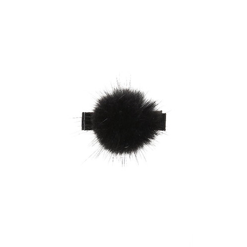 Medium Mink Puff Clip - Black