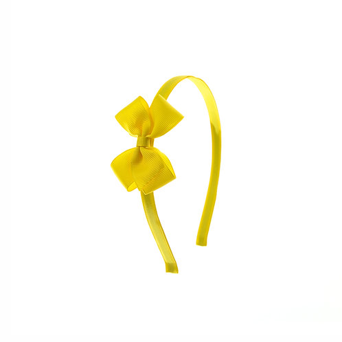 Small London Bow Hairband - Daffodil