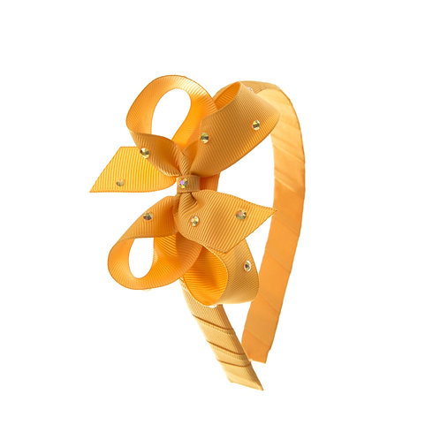 Bow Hairband - Gold