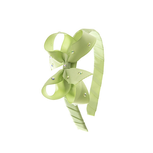 Bow Hairband - Lime Juice