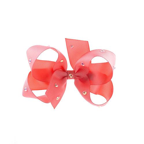 Medium Bow - Coral Rose