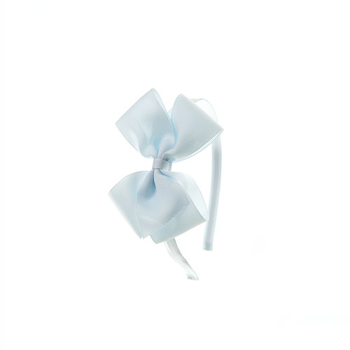 Medium London Bow Hairband - Blue Vapor