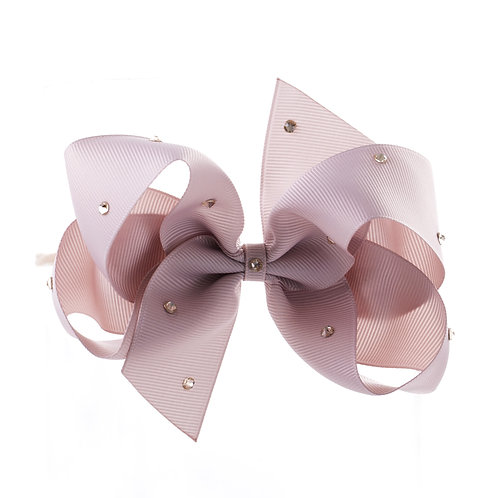 Large Classic Bow Soft Hairband - Carmandy with Swarovski Cry