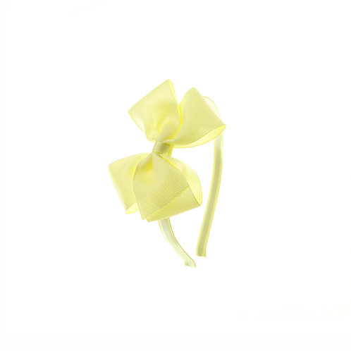 Medium London Bow Hairband - Baby Maize