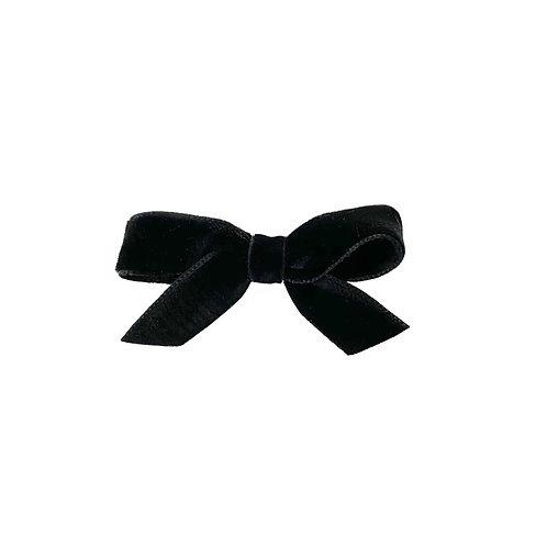 Small Velvet Bow - Black