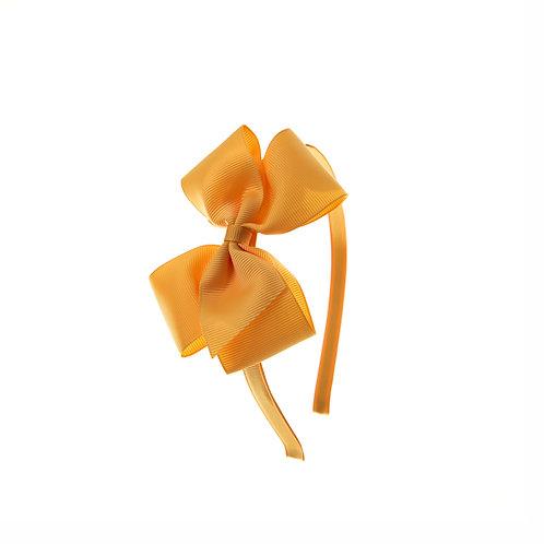 Medium London Bow Hairband - Gold
