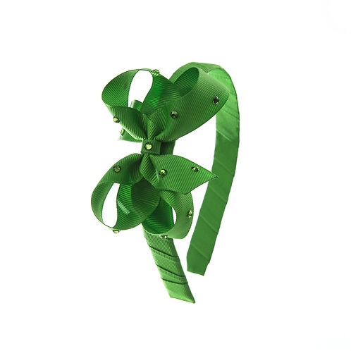 Bow Hairband - Classic Green