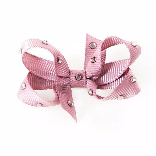 Small Bow - Rosy Mauve