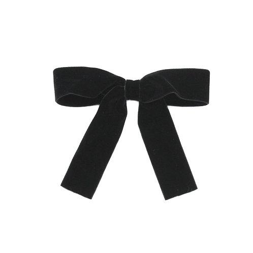 Large Velvet Bow - Black