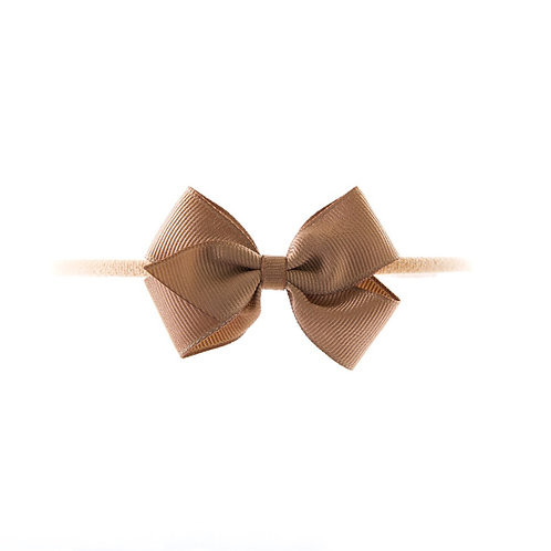 Small London Bow Soft Hairband - Fossil