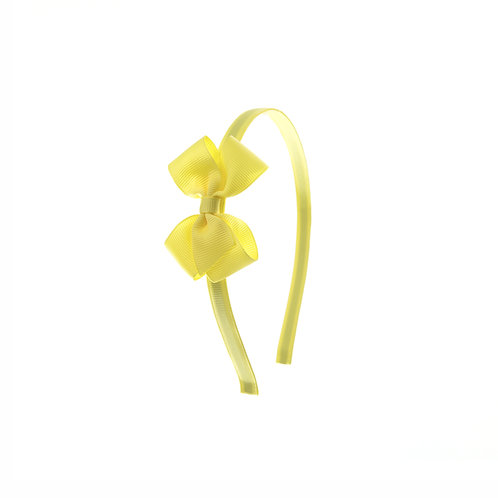 Small London Bow Hairband - Lemon