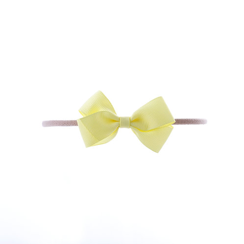 Small London Bow Soft Hairband - Baby Maize
