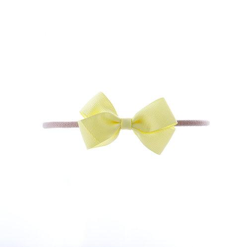 Small London Bow Soft Headband - Baby Maize