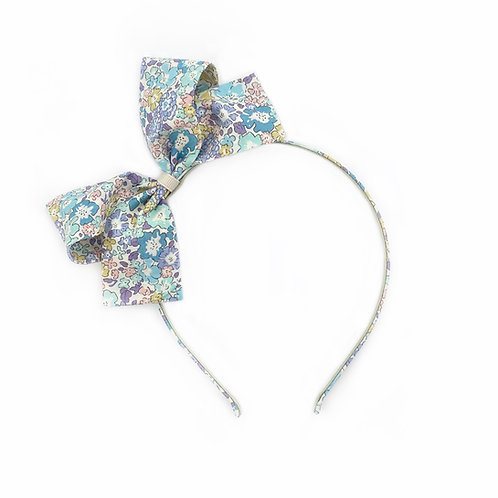 Liberty Bow Hairband - Michelle Blue