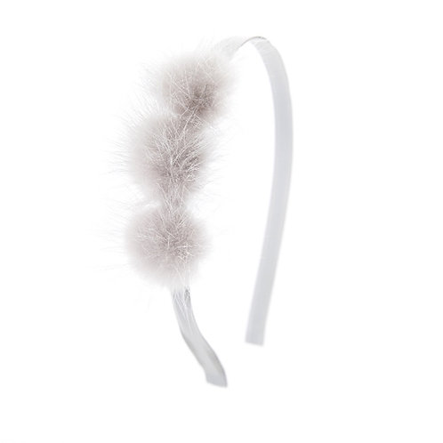 Triple Puff Hairband - Grey