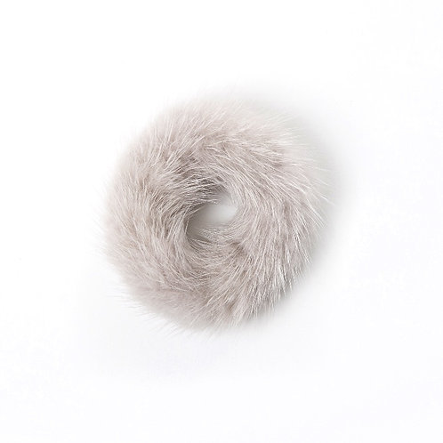 Hair Scrunchie - Light Grey