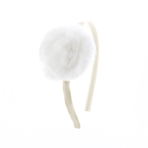 Swirl Flower Hairband - Ivory