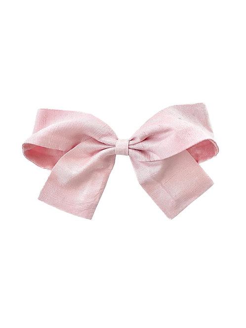 Medium Paris Bow - Pearl Pink  Silk Taffeta