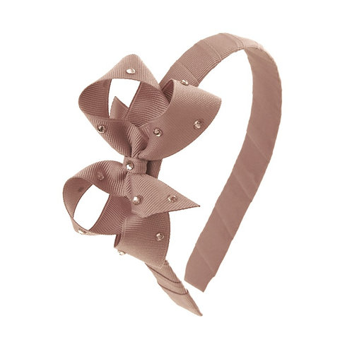 Bow Hairband - Fossil
