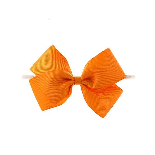 Medium London Bow Soft Hairband - Tangerine