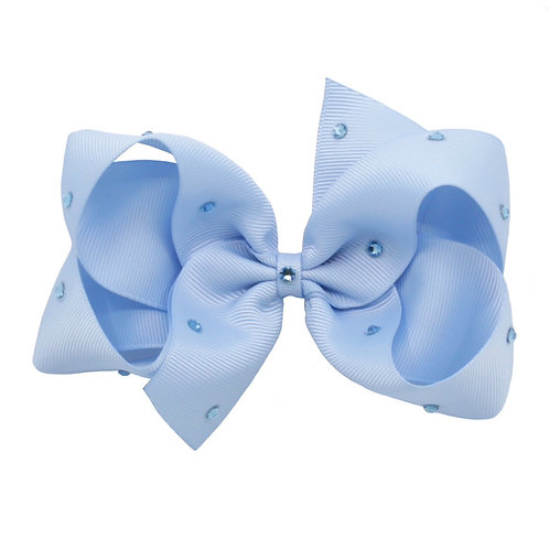 Large Classic Bow - Bluebird with Swarovski Crystals