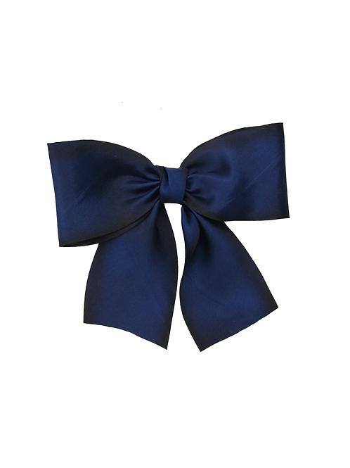 Oversized Silk Bow - Midnight