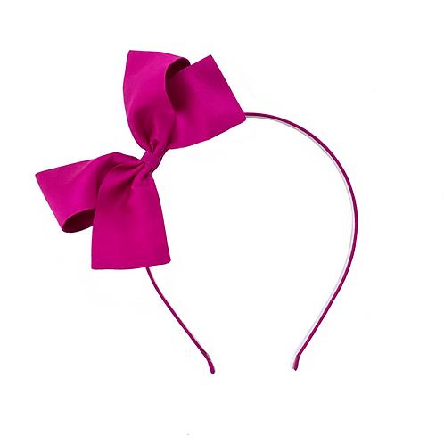 Paris Bow Hairband - Fuchsia Silk