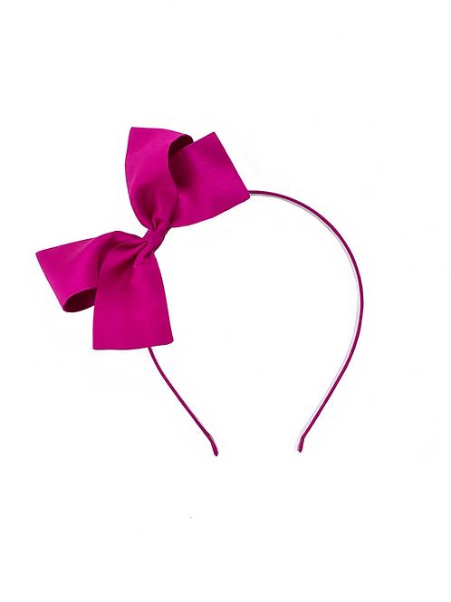 Paris Bow Headband - Fuchsia Silk
