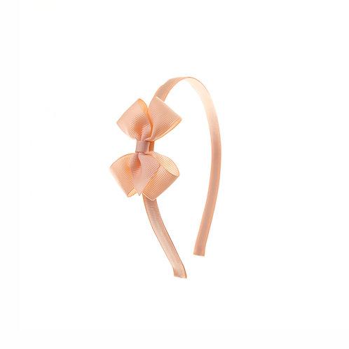 Small London Bow Hairband - Petal Peach