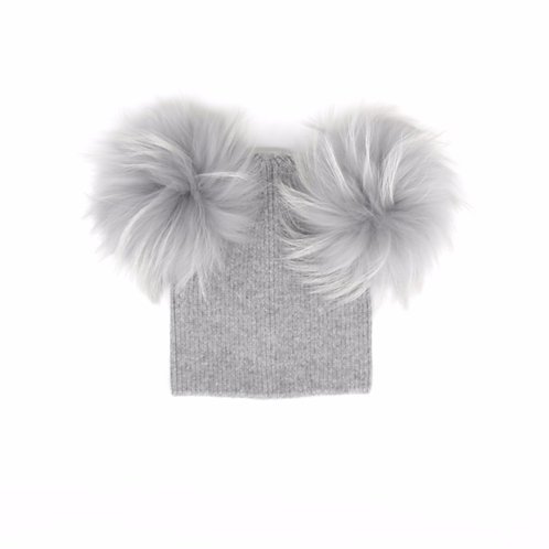 *Exclusive* Angora Double Pom Child Hat - 2 years to 5 years