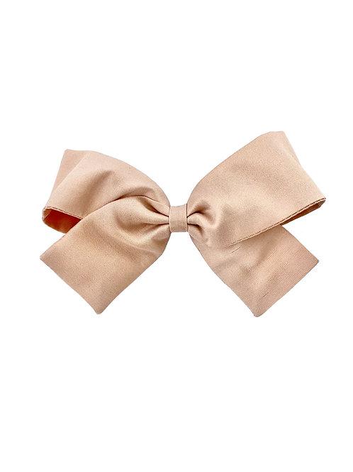 Medium Paris Bow - Nude  Silk Taffeta