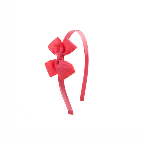 Small London Bow Hairband - Passion Fruit