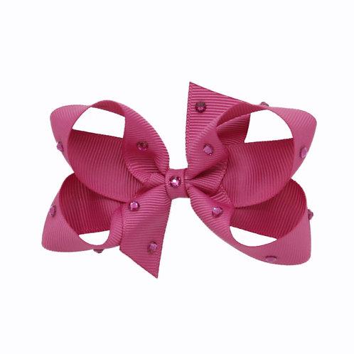 Medium Bow - Raspberry Rose