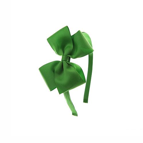 Medium London Bow Hairband - Classic Green