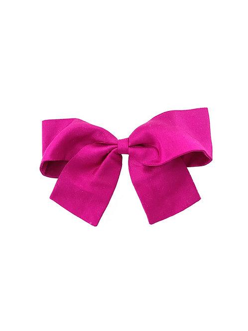 Medium Paris Bow - Fucshia  Silk Taffeta