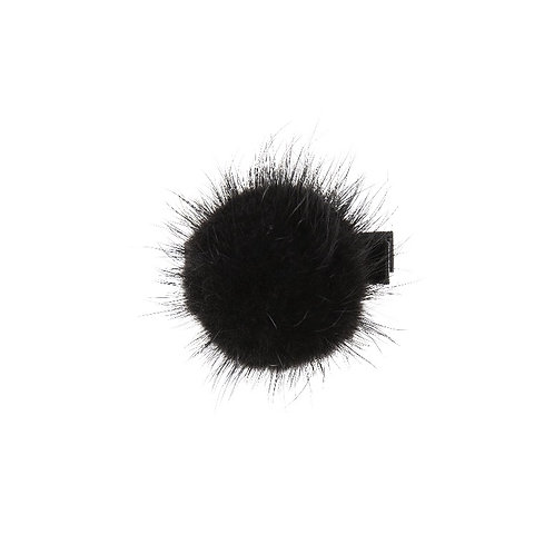 Large Mink Puff - Black