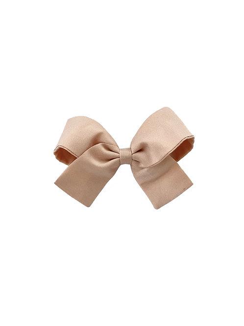 Small Paris Bow - Nude  Silk Taffeta