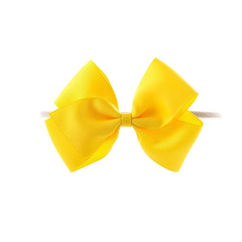 Medium London Bow Soft Hairband - Daffodil