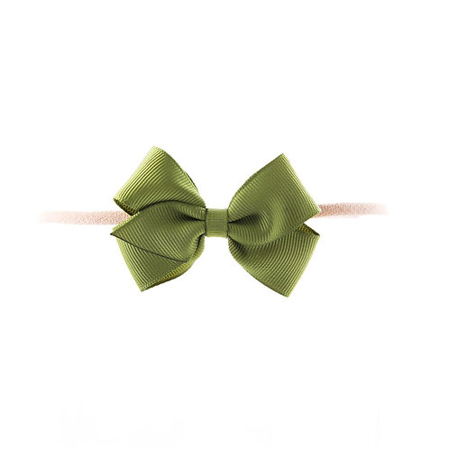 Small London Bow Soft Hairband - Willow