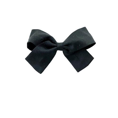 Small Paris Bow - Black  Silk Taffeta