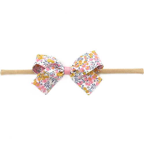 Small Paris Liberty Bow Soft Hairband - Wiltshire Bud
