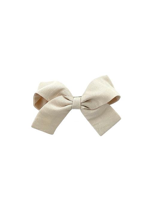 Small Paris Bow - Ivory  Silk Taffeta