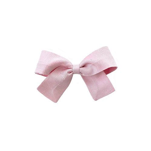 Small Paris Bow - Pearl Pink  Silk Taffeta