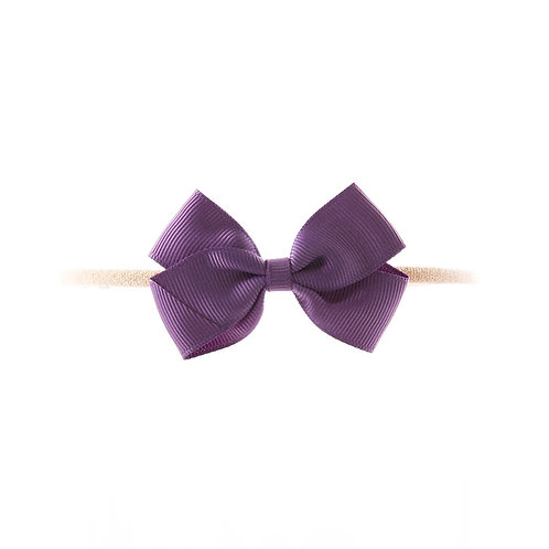 Small London Bow Soft Hairband - Amethyst