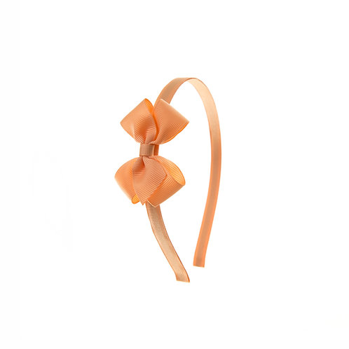 Small London Bow Hairband - Peach